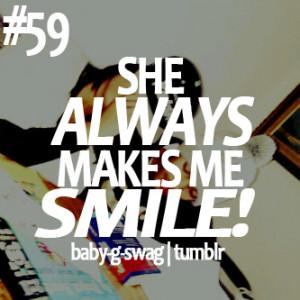 she makes me smile