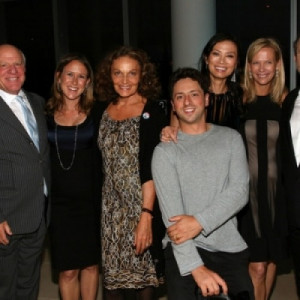 Anne Wojcicki and Rupert Murdoch