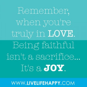 Being faithful...