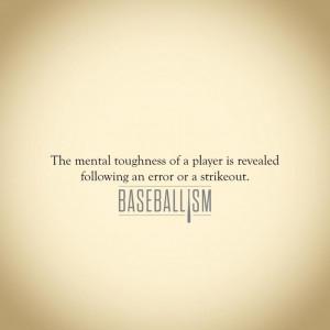 Baseballism | How you handle stress, criticism and defeat...