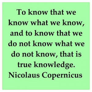 CafePress > Wall Art > Posters > Nicolas Copernicus quotes Poster