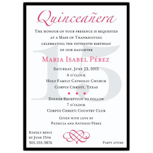 quinceanera invitation wording template pRTRX9TL