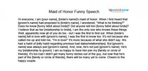 maid honor speeches cousin funny 1 maid honor speeches cousin funny 2 ...