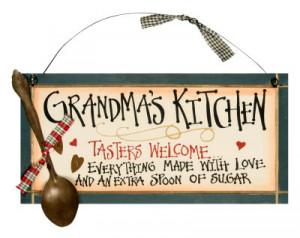 Grandma's Kitchen Wood Sign