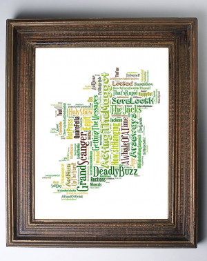 IRISH SAYINGS PRINT- Funny Art Ireland Slang Phrases. Unique Unusual ...