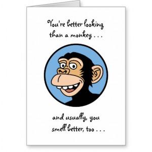 Cute Monkey Birthday Card
