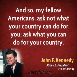John F. Kennedy Patriotism Quotes