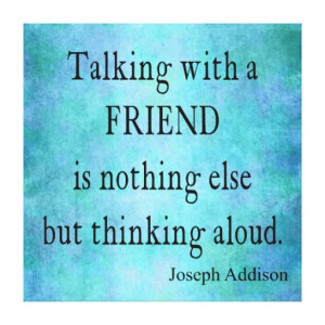 Vintage Aqua Teal Blue Addison Friendship Quote Gallery Wrapped Canvas