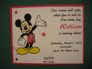 Mickey Mouse Birthday Wish Sayings