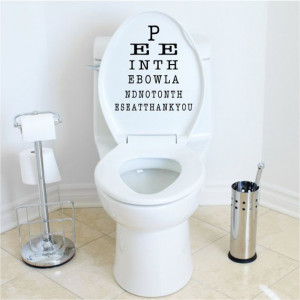 Funny Bathroom Quote for toilet lid adhesive wall vinyl saying Pee in ...
