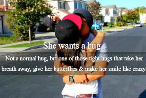 She Want a hug