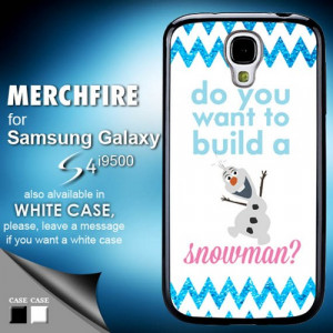 TM 774 Frozen olaf quote glitter blue Samsung Galaxy S4 Case