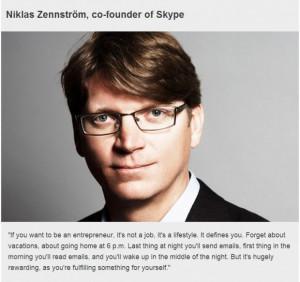 Inspiring business quotes niklas zennstrom skype founder