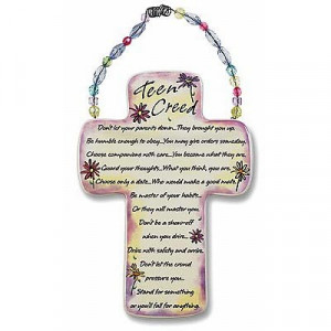Teen Creed Ceramic Cross - Multi-Color