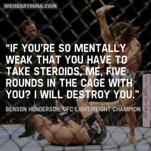 quote which says a lot about Benson Henderson and why he is the ...