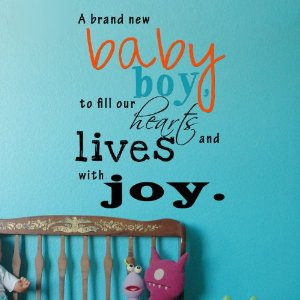 popdecors a brand new baby boy inspirational quote wall decals quote ...