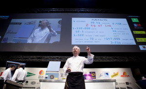 Nathan Myhrvold Chef Nathan Myhrvold speaks during a lecture on the