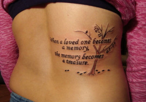 memorial tattoo quotes for girl