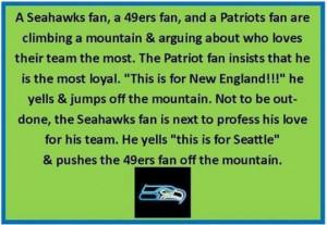 True blue Seahawk fan