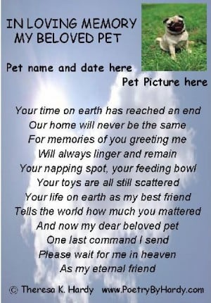 memorial quotes for dead dogs