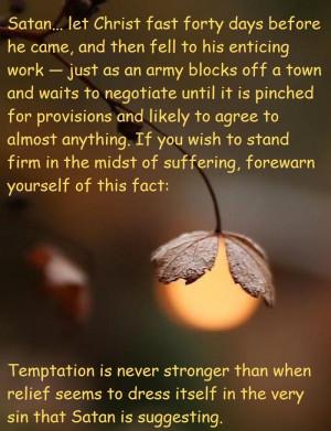 Temptation. William Gurnall quote