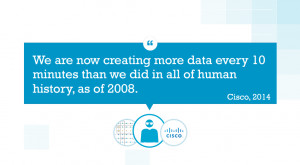 ... , we are creating more data than ever – check out the quote below