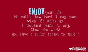 million reason to smile
