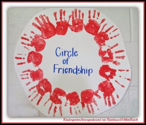 Painted Hands for Circle of Friendship at RainbowsWithinReach