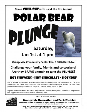 New Years Day Polar Bear Plunge in Orangevale!