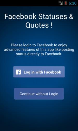 Facebook ♥ Statuses & Quotes ! - screenshot