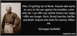 More Giuseppe Garibaldi Quotes