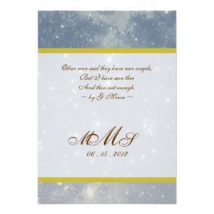 Starry Night Wedding Invitation from Zazzle.com