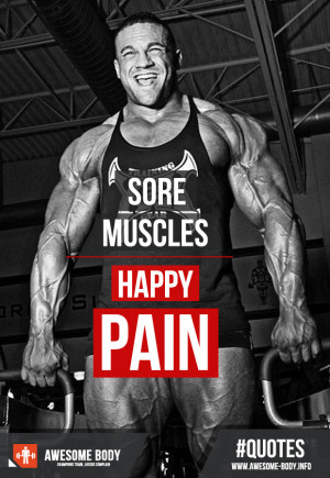Sore Muscles Happy Pain Quotes