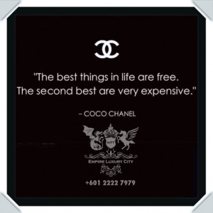 Quote from fashion icon Coco Chanel