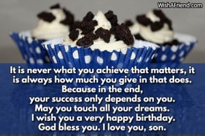 Son Birthday Wishes Quotes