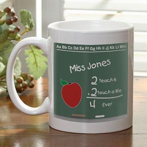 Personalized Teacher Chalkboard Ceramic Coffee Mug