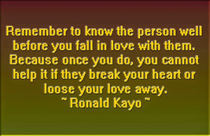 Lost The Love Of My Life Quotes