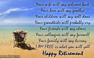 Retirement poems for dad: Happy retirement poems for father