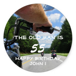 motorcycle_biker_riding_funny_happy_birthday_party_sticker ...