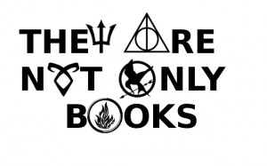 books, divergent, fandom, harry potter, hunger games, percy jackson ...