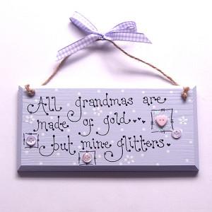 Wooden Grandparent Sign - Click for Bigger Image