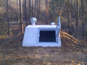 Slope Front Storm Shelter