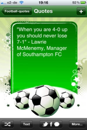 Footballquotes - All Jokes, Sayings and Quotes about Soccer - iPhone ...