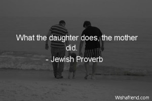 daughter-What the daughter does, the mother did.