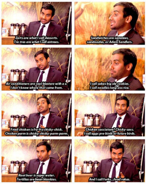 Tom Haverford quotes. Parks and Rec. Appetizers/