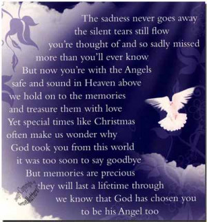 Details about Christmas Grave Card Angel In Heaven FREE HolderC114