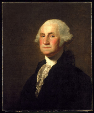 Washington reviewing troops sent to put down the Whiskey Rebellion in ...