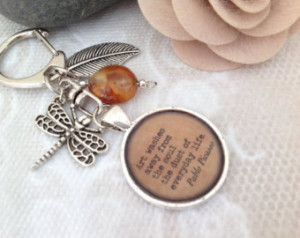 Silver Pendant Sayings Quot es Poems Words to Live By with a Dragonfly ...