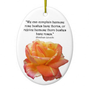 red_yellow_variegated_rose_and_thorn_quote_ornament ...
