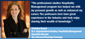 Christine Busiek Sales Manager and Hospitality Professional